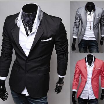 new men thin suits Korean small sui..