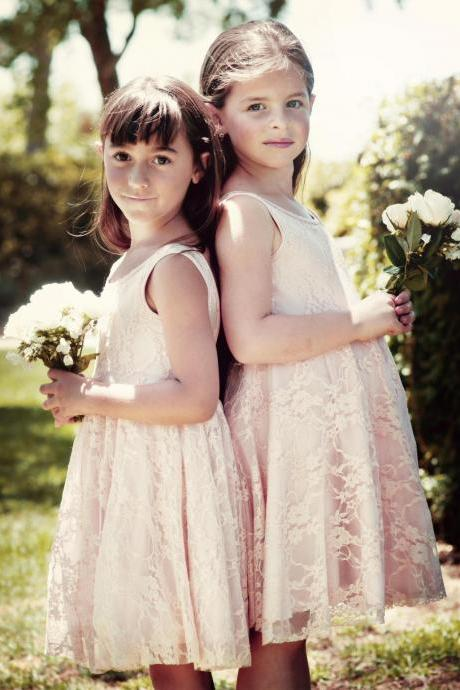2017 Vintage Lace Flower Girls' Dresses Princess A-Line High Neck Floor Length Backless Junior Bridesmaid Dress Kid Formal DressIvory Lace Flower Girl Dress Wedding Baby Girls Dress Tulle Rustic Baby Birthday Dre…Girls lace bridesmaid dress color custom Flower Girl Dress Wedding Baby Girls Dress Baby Birthday Dress