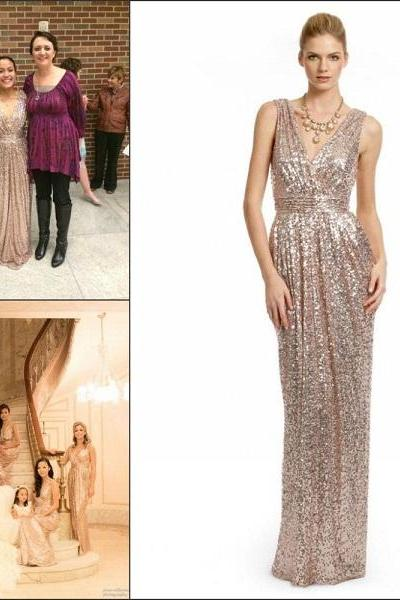 Blingbling Sequins Long Bridesmaid Dresses Hot Sale Cheap Backless Blingbling Wedding Prom Gowns For Bridesmaids Pregnant Dress
