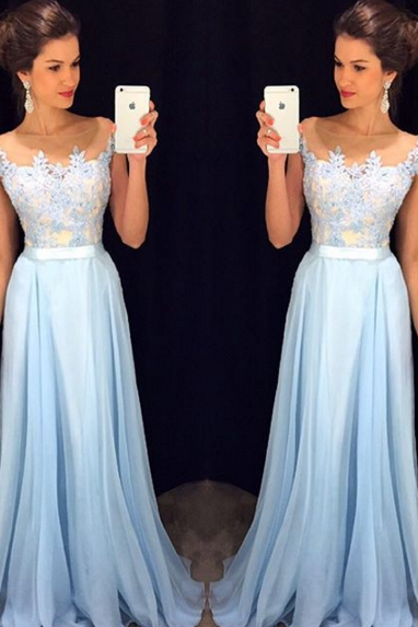 Prom Dress,Chiffon Prom Dress,A-Line Prom Dress,Charming Prom Dress,Appliques Prom Dress
