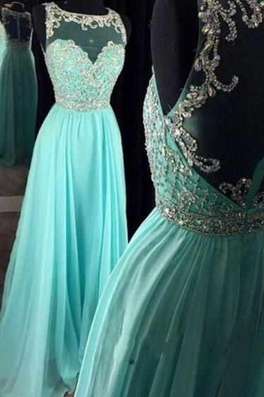 Real Beautiful Long Chiffon Prom Dresses,Pretty High Low Prom Gowns,Zipper Back Evening Dresses