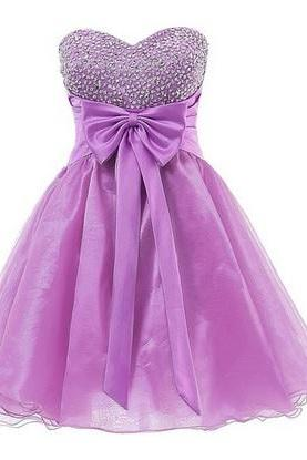 Homecoming Dresses,Sweetheart Graduation Dresses with Bow,Homecoming Dress,New Design Homecoming Dress