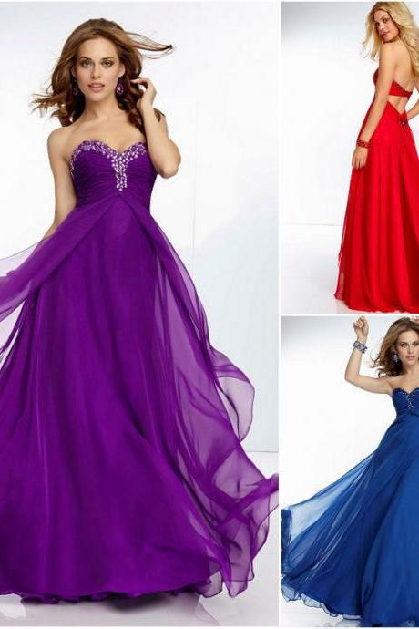 2016 Long chiffon Evening Dresses Swethenrt Empire Long Party Formal Dress Evening Club Prom Gowns Pageant Dress