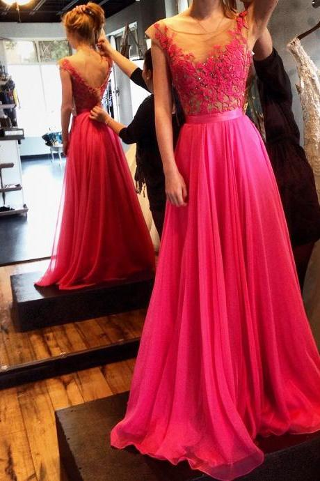 Prom Dress,Chiffon Prom Dress,Long Prom Dresses,Evening Formal Gown,Beading Party Dress