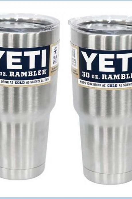 two pack Yeti Rambler Multi-color Tumbler With Lid - 30 oz by Yeti