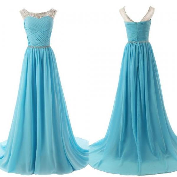 Simple V-neck Mint Homeocming Dresses,Cute Graduation Dresses,Open Back Cocktail DressesThe Chiffon charming Prom Dresses, Floor-Length Evening Dresses, Prom Dresses, A-Line Real Made Prom Dresses On Sale,