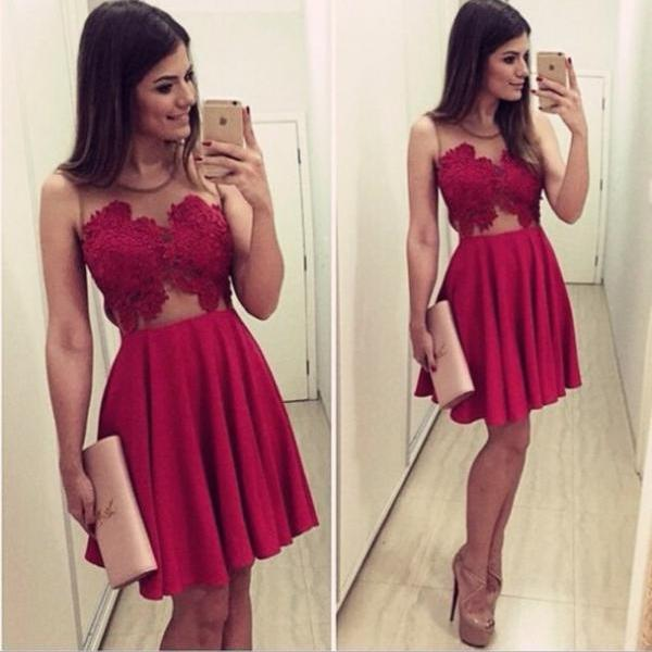 New Arrival Sexy Homecoming Dresses,O-Neck Graduation Dresses,Homecoming Dress,Short/Mini Tulle Homecoming Dress